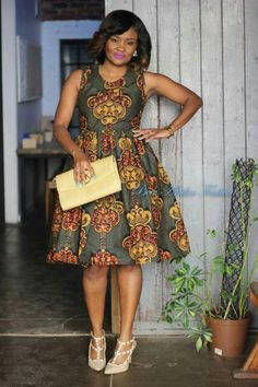 You can do a lot with any type of Ankara material, that includes all-purpose fit and flare Ankara dress. Ankara fit and flare dress has an incredible fit o African Fashion Designers, Latest African Fashion Dresses, African Dresses For Women, African Print Dresses, African Print Fashion, Africa Fashion, African Attire, African Prints, Bow Afrika Fashion