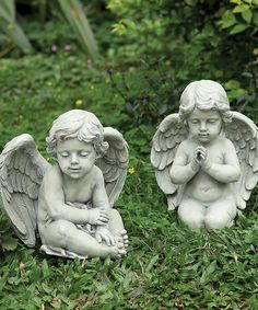 Love this Cherub Garden Statues - Set of Two by Roman on #zulily! #zulilyfinds