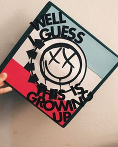 Blink 182 Graduation Cap Design // follow us @motivation2study for daily inspiration