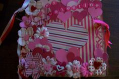 Paper Bag Scrapbook Album Valentine Journal Tags | eBay