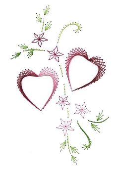 The Latest Trend in Embroidery – Embroidery on Paper - Embroidery Patterns Embroidery Cards, Learn Embroidery, Embroidery Stitches, Embroidery Patterns, Hand Embroidery, Art Carte, Sewing Cards, String Art Patterns, Prego