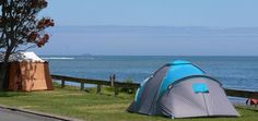 With New Plymouth, Taranaki just 15 minutes drive away, Oakura Beach Holiday Park accommodation is a great for fun and relaxing family beach holiday. Holiday Park, Beach Holiday, Camping Spots, Plymouth, Outdoor Gear, Tent, Places To Visit, Store, Tents