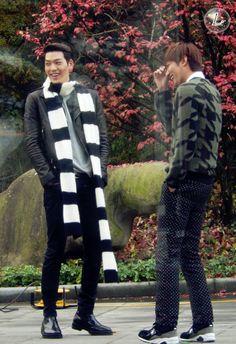 "Lee Min Ho and Kim Woo Bin ♡ #Kdrama // The ""HEIRS"" BTS"