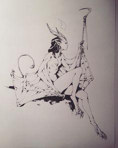 """andrew mar"" on Shift Click Character Inspiration, Character Art, Character Design, Art Sketches, Art Drawings, Dark Fantasy Art, Art Challenge, Fantasy Creatures, Fantasy Characters"