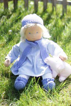 Babypuppe Lotta mit Schweinchen