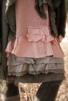 Underskirt & tulle shirt - Cream