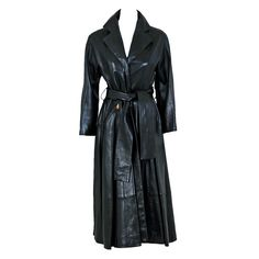 1stdibs   1990's Christian Dior Numbered Couture Leather Trench Coat