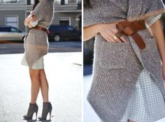 want all. of. these. // Sweater - courtesy of Alainn Bella, Dress - Club Monaco, Belt - J.Crew, Booties - Givenchy, Rings - H&M, Sunglasses - Prada