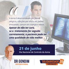 É no inverno, quando as temperaturas estão bem baixas, que aumenta o número de casos de asma desencadeado por alergias.#FichaLimpa #77000 #Saúde #votedrgondim77000