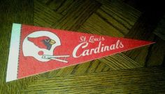 VIntage St. Louis Cardinals Football Pennant by streetcrossing