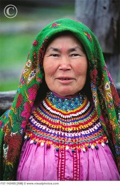 Mansi woman:  an indigenous people living in Tyumen Oblast, Russia