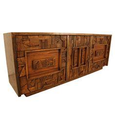 Mid century modern Lane Brutalist Dresser.   Repinned by Secret Design Studio, Melbourne. www.secretdesignstudio.com
