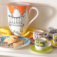 Modigliani | dinnerware | Appunti di Viaggio- I love this pottery!