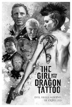 The Girl with the Dragon Tattoo - movie poster - Matthew Spurlock