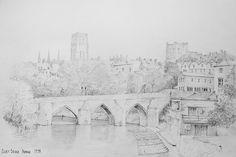 A3_1_44 Elvet Bridge Durham | by Malcolm Coils. St Johns College, Durham, Pencil Drawings, A3, Cathedral, Bridge, Spirituality, England, Explore