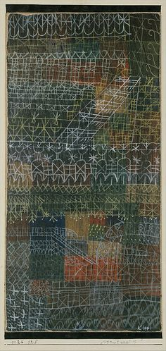 "met-modern-art: "" Structural I by Paul Klee, Modern and Contemporary Art Medium: Gouache on cardboard, bordered with ink, mounted on cardboard The Berggruen Klee Collection, 1984 Metropolitan Museum. Modern Art, Contemporary Art, Paul Klee Art, Illustration Art, Illustrations, Wassily Kandinsky, Art Plastique, Oeuvre D'art, Metropolitan Museum"