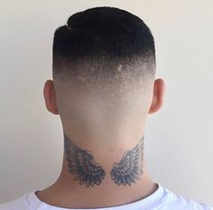 Then you need to check out these coolest neck tattoo for men. Back Of Neck Tattoo Men, Wing Neck Tattoo, Nape Tattoo, Head Tattoos, Badass Tattoos, Wolf Tattoos, Finger Tattoos, Sleeve Tattoos, Tattoos For Guys
