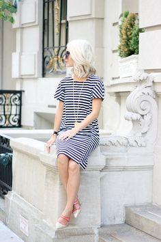 striped dress j.crew