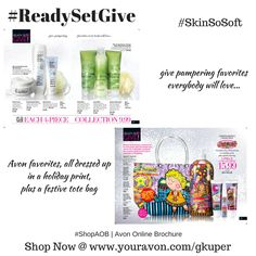 #AvonBodySpa | #ReadySetGive | #SkinSoSoft or #Distroller Collections | #ShopAOB @ www.youravon.com/gkuper