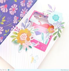 Tunnel Pop-Up Box Cards by Elsie Robinson Flower Picture Frames, Flower Pictures, Umbrella Cards, Pop Up Box Cards, Hello Spring, Die Cutting, Shadow Box, Pink Color, Evans