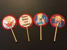 Llama Llama Red Pajama Drama Birthday Rama Party Cupcake Toppers Picks - 24