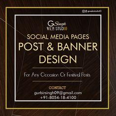 We are the Social Media Post & Social Media Banner Designer. Social Media Banner, Social Media Pages, Web Studio, Banner Design, Graphic Design, Visual Communication