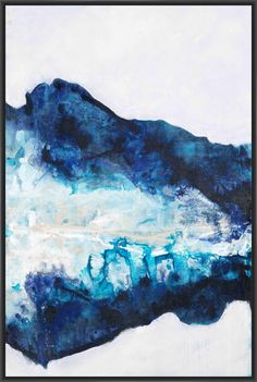 COOLING POOL II 22L X 28H Floater Framed Art Giclee Wrapped Canvas