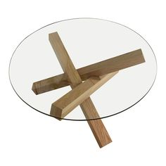 Haxby #coffee #table, circular, in glass and #walnut - Black Friday #sale