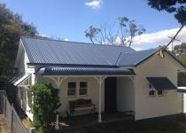 Sydney's Expert in Affordable Roof Restoration. Customise Your Roof with Colorbond Roofing! Huge Range of Colours & Finishes. Cottage Exterior, Exterior House Colors, Exterior Design, Exterior Paint, Roof Restoration, Roof Paint, 1940s Home, Blue Roof, Facade House