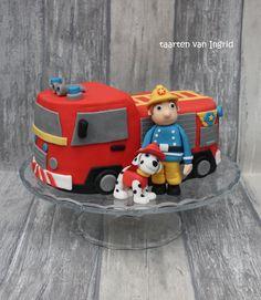 Taart brandweerwagen brandweerman Sam / Cake Firetruck fireman Sam