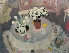 anne redpath(1895–1965), the white azalea, c.1950–52. oil on canvas, 71.5 x 91.5 cm. aberdeen art gallery & museums, uk http://www.bbc.co.uk/arts/yourpaintings/paintings/the-white-azalea-107685