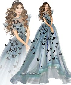 anna shershen be inspirational mz manerz being well dressed is a beautiful form of 39793531705782373 Fashion Design Sketchbook, Fashion Design Drawings, Fashion Sketches, Paper Fashion, Fashion Art, Fashion Illustration Dresses, Fashion Illustrations, Dress Drawing, Dress Sketches