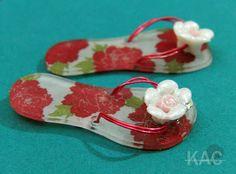 Sandal Charms  shrink plastic