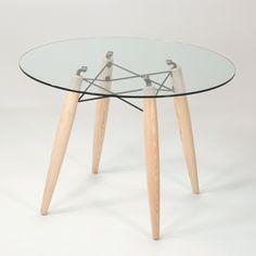 explore table ronde en verre