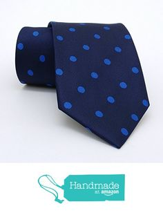 "Dark blue and sax blue dotted men's tie 8 cm (3,15"") DK-563 from Nazo Design https://www.amazon.com/dp/B01FO27OWK/ref=hnd_sw_r_pi_dp_xQM5xbGXVSFQ2  #handmadeatamazon #nazodesign"