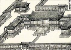 고종 대에 중건된 경복궁의 침전 강녕전 모습, 1897년의 [진찬의궤(進饌儀軌)].
