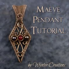 Learn to create a beautiful, regal pendant with this tutorial from Wynter Creations!  With 24 pages, and over 70 high-definition, full-color photos and detailed instructions for every step, this tutorial takes you through the design from start to finish.