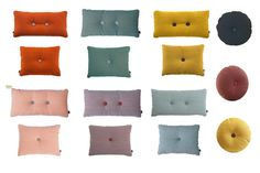 Hay pillows: in colours matching the wall and other accenten Diy Pillows, Cushions, Throw Pillows, Scandinavian Living, Scandinavian Interior, Hay Design, Nordic Home, Danish Design, Leather Sofa