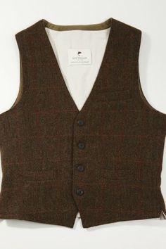 Irish wool tweed vest #irishtweed #irishwoolvest #tweedvest