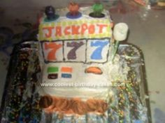This Slot Machine Cake Design was my first cake. I made this cake about a year ago for my grandma's birthday. I made this Slot Machine Cake because she