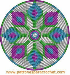 Risultati immagini per crochet pattern wayuu bag Crochet Chart, Filet Crochet, Diy Crochet, Crochet Gratis, Motif Mandala Crochet, Tapestry Crochet Patterns, Crochet Handbags, Crochet Purses, Cross Stitch Embroidery