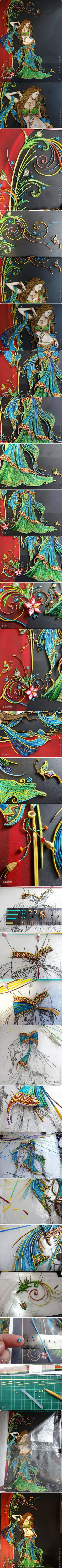 Wow! Detailed intricate quilling! Beautiful..