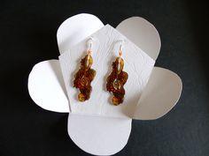 boucles d'oreilles clé de sol nuance d'orange : Boucles d'oreille par ccifacile