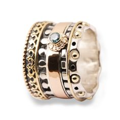 Ring silver & Gold