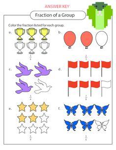 math worksheet : basic fractions practice  fractions fractions worksheets and  : Fractions Of A Group Worksheets