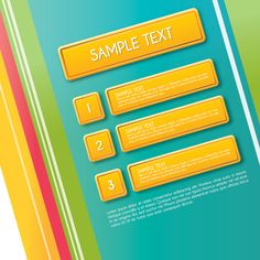 #Stripy #Yellow #Buttons - vector graphic by DryIcons.com