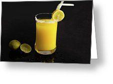 Whiskey Sour  Greeting Card by Manjot Singh Sachdeva