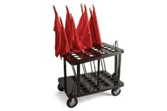 Marching Band Color Guard Flag Cart -- Want this!!! Would be so much easier to take things out without getting them all messed up!