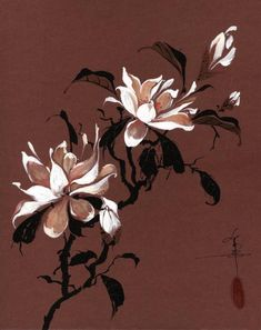 Chinese Magnolia Painting  - Chinese Magnolia Fine Art Print