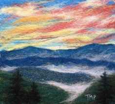 """Smokey Mountain Sunset""  by Tracey McCracken Palmer of Bonnieblink Studio"